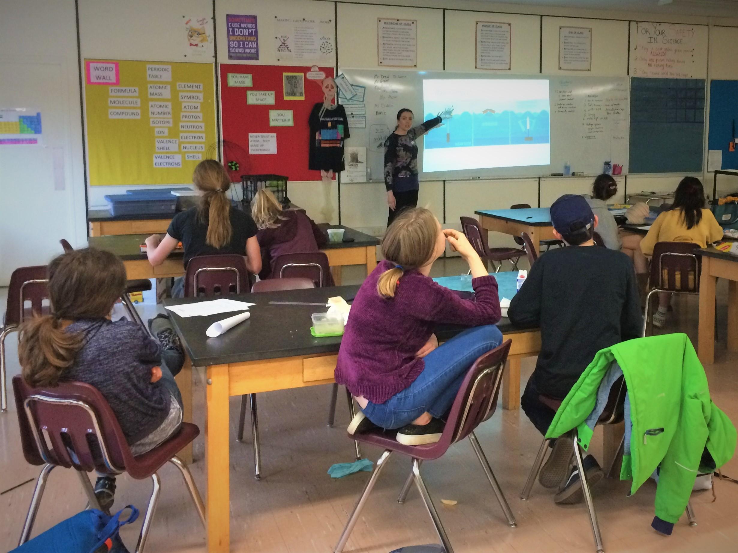 Wind Energy Fellow Kaylie Mctiernan Teaches Middle School