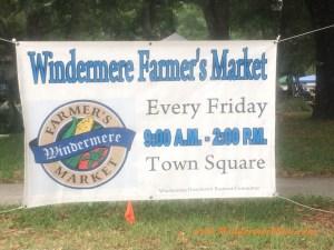 Windermere Farmer's Market sign (credit: WindermereSun-Susan Sun Nunamaker)