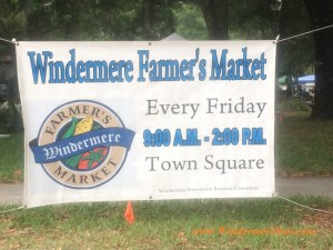 Windermere Farmer's Market sign near the roundabout at Downtown Windermere, FL (credit: Windermere Sun-Susan Sun Nunamaker)