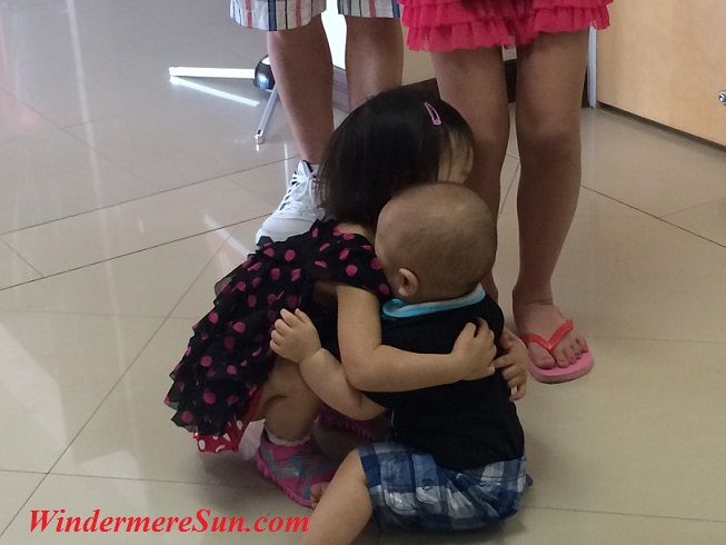 Affections among children (photographed by Windermere Sun-Susan Sun Nunamaker)