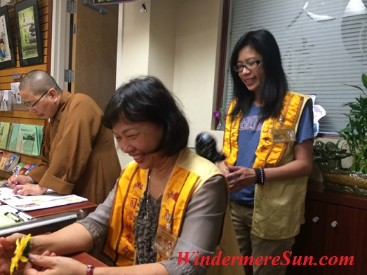Camaraderie/friendship developed among members of the temple (photographed by Windermere Sun-Susan Sun Nunamaker)
