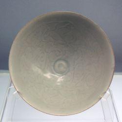 Jingdezhen-Qingbai glazed bowl with carved peony designs Jingdezhen ware,1127-1279, now in Shanghai Museum (Attrib Uploadalt)
