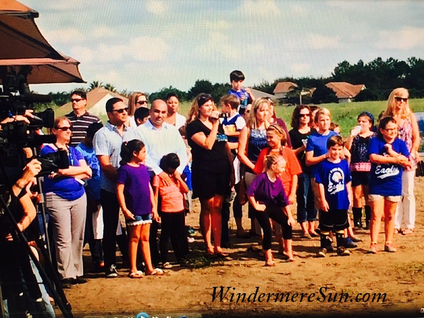 Community residents come out to support the Groundbreaking Ceremony of West Orange County Relief High School on Thursday, September 24, 2015, a beautiful hot and sunny day (photgraphed by Windermere Sun-Susan Sun Nunamaker)
