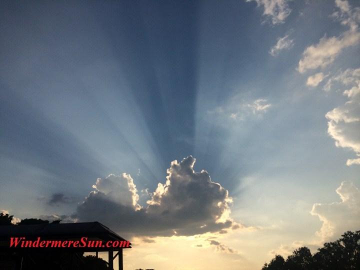 Sunshine through the cloud, symbolizing opportunities for entrepreneurship (credit: Windermere Sun-Susan Sun Nunamaker)