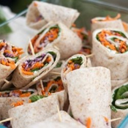 Delicious vege wraps (credit: Bridget Besoner & Brandon Mead)