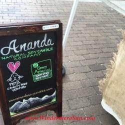 Ananda Natural Soy Candles Company at Windermere Farmer's Market (credit: Windermere Sun-Susan Sun Nunamaker)