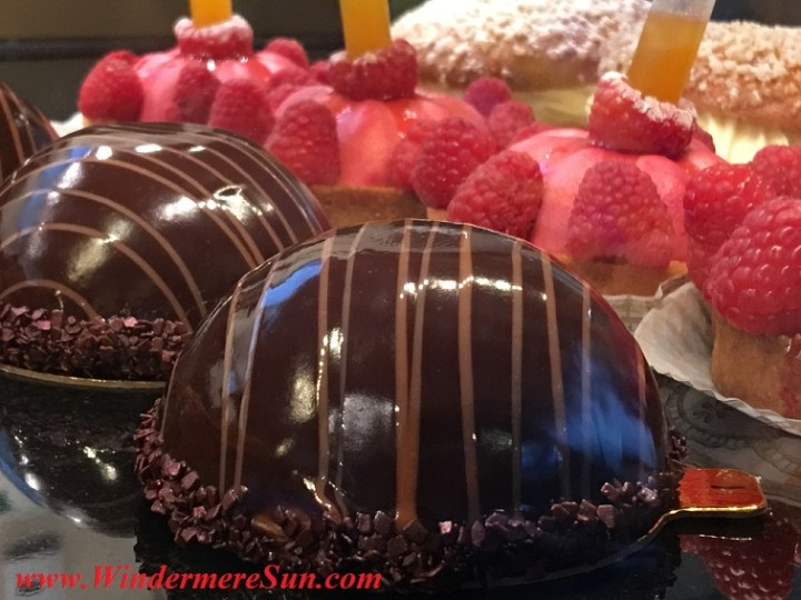 Chocolate Delicacies & Raspberry Tarts of My French Cafe (credit: Windermere Sun-Susan Sun Nunamaker)