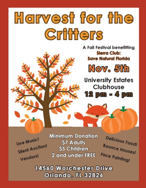 Harvest For The Critters, helps to support Sierra Club