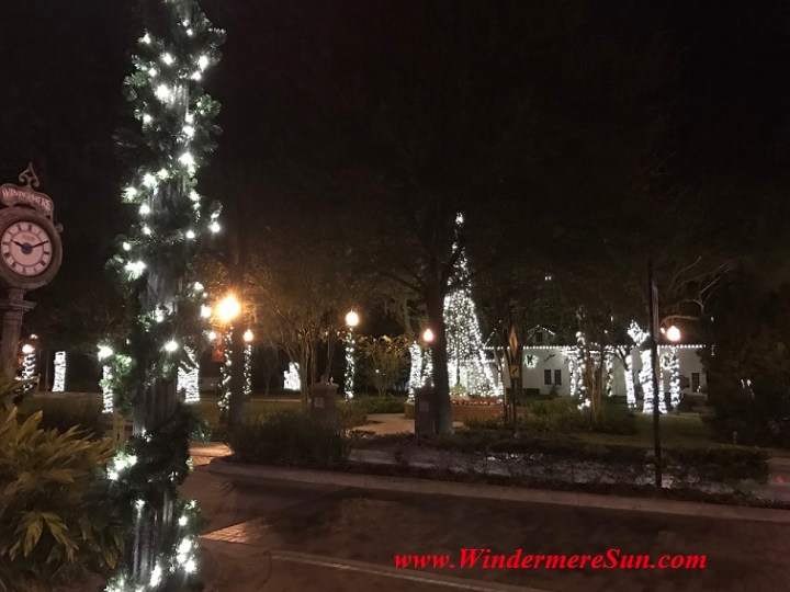 Holiday Lights at Windermere Town Square (credit: Windermere Sun-Susan Sun Nunamaker)