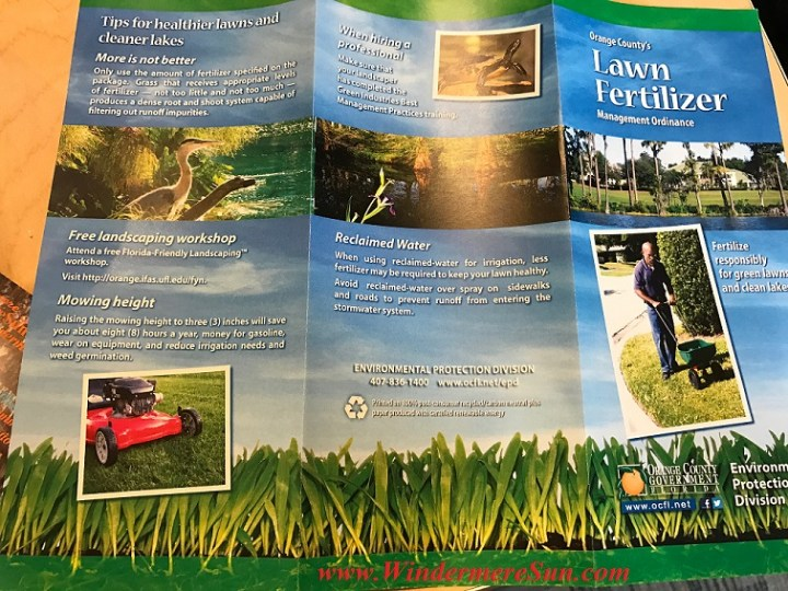 Orange County's Lawn Fertilizer brochure cover final