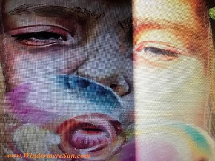 girl blowing bubble #15 art work-3 final
