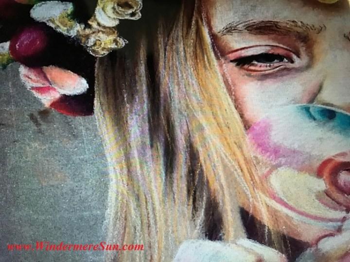 girl blowing bubble #15 art work-5 final
