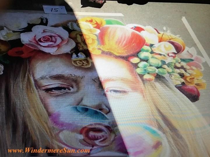 girl blowing bubble #15 art work final