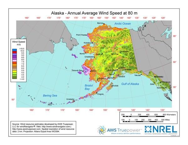 WINDExchange Wind Energy in Alaska