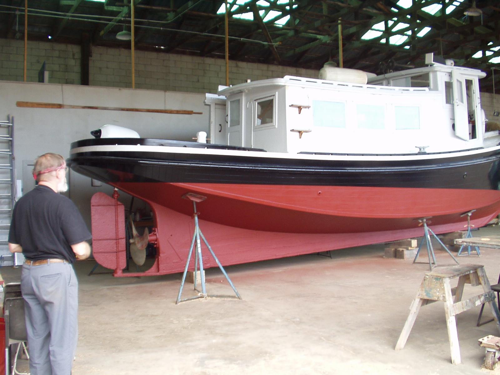 Tug boat restoration - paint job complete