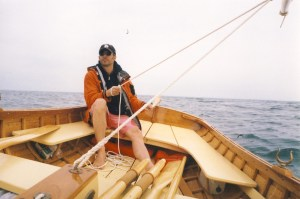 Alva Starr, a custom CT River Drag boat made by Windfall Woodworks