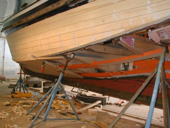 Tug boat restoration - planking in progress