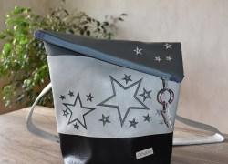 Sterne dunkelgrau-hellgrau-schwarz