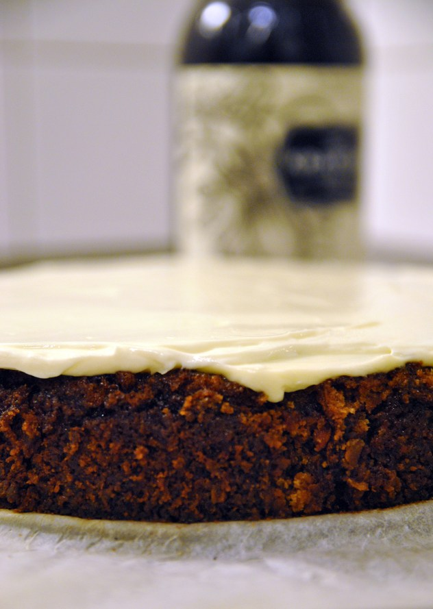 The world's best carrot cake recipe. Carrot cake soaked in black rum by Wind from the North