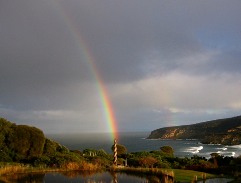 peace spiral rainbow