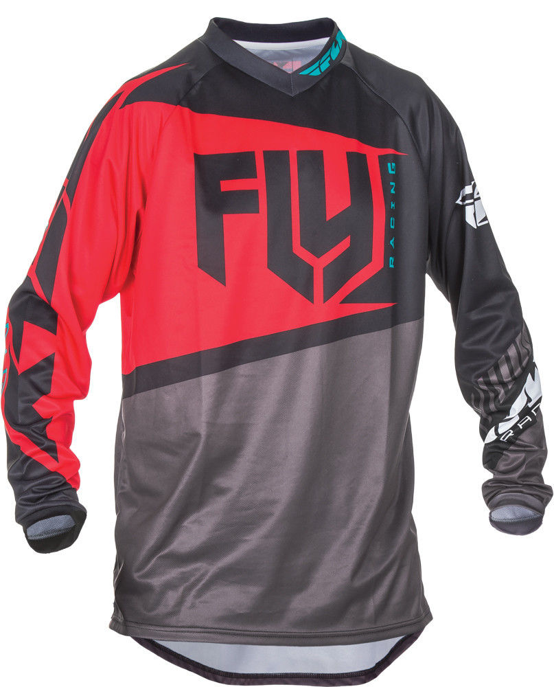 WHITE YOUTH /& ADULT ALL SIZES MX ATV BMX MTB NEW 2017 FLY F-16 JERSEY BLUE