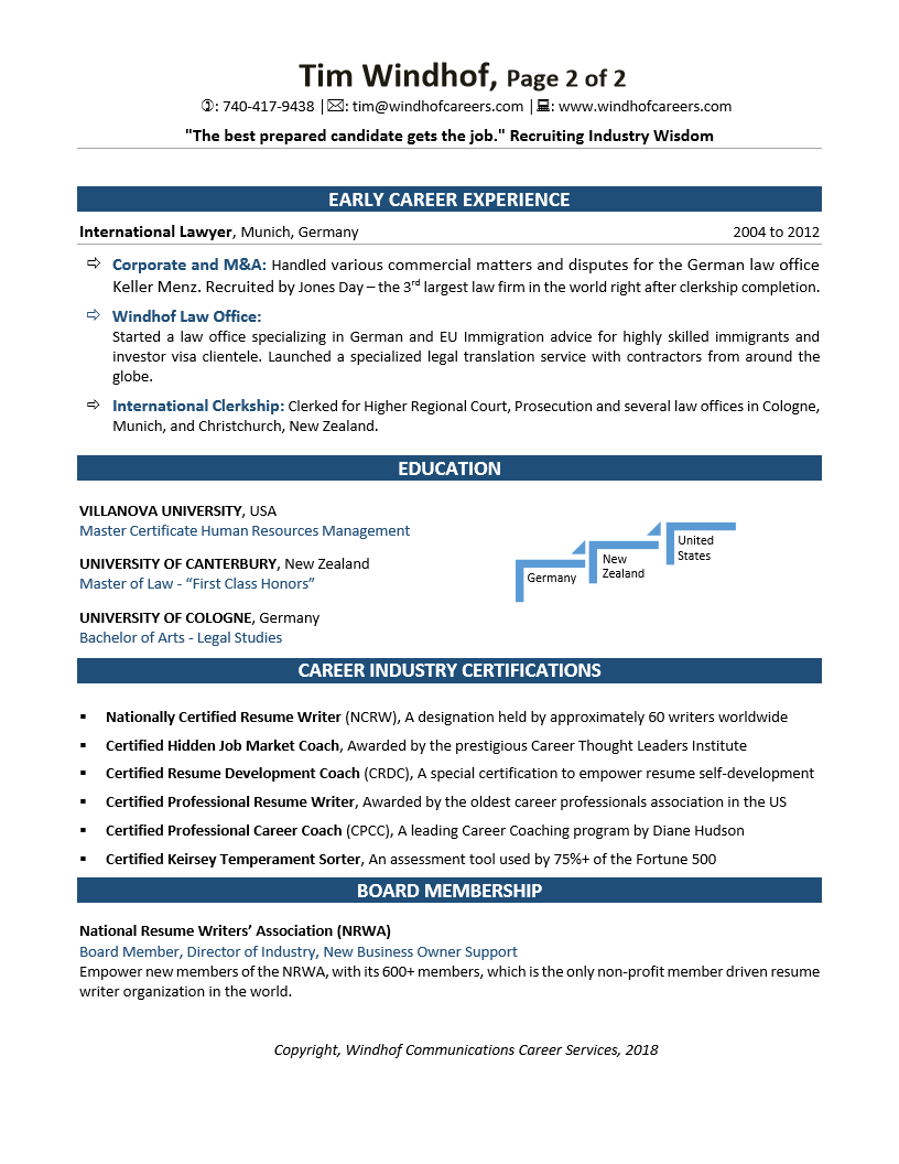 Master Resume Writer About Tim Executive Career Resume Service