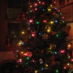 Glowing nighttime Christmas Tree