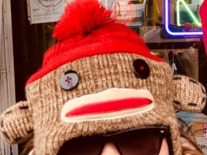 Monkey hat.