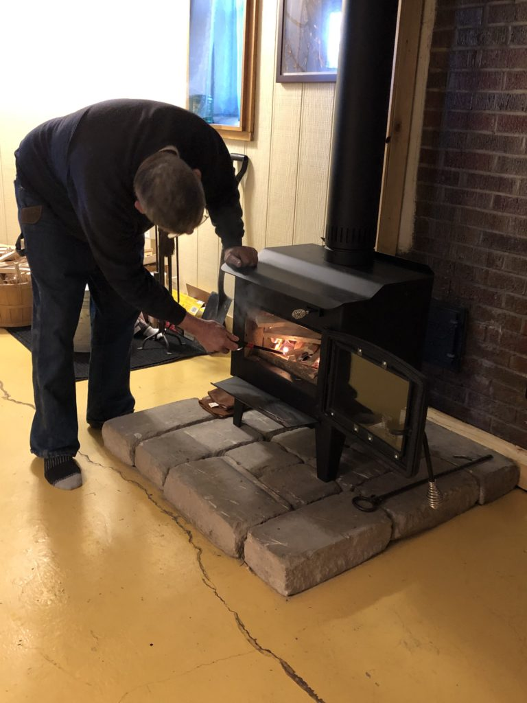 lighting stove