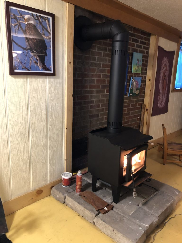 Newly installed stove