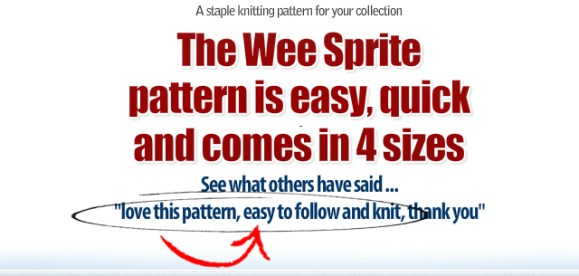 Newborn knitting pattern for photography prop, handspun yarn, winding the skein.com, WEE SPRITE KNITTING PATTERN pdf