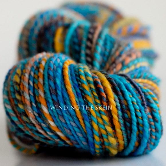 handspun yarn, merino yarn, two ply, windingtheskein.com