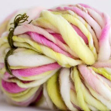 winding the skein, handspun yarn, fiber, spinning fiber, hand dyed roving, hand dyed, thick and thin yarn, handspun yarn, super bulky