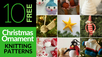 10 Essential Free Christmas Ornament Knitting Patterns