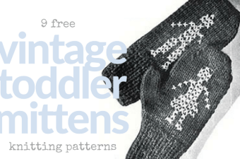 9 Free Vintage Toddler Mitten Knitting Patterns