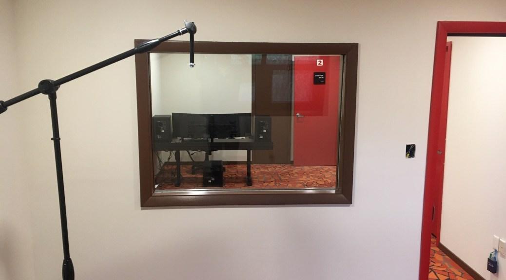 Studio Audio Booth in Recording Studio