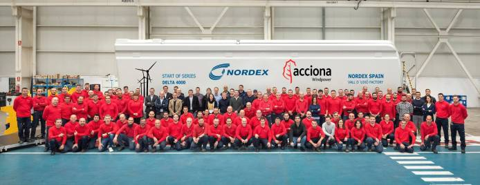 Nordex Group Now Manufacturing Delta4000 Turbines In La Vall d'Uixó Plant In Spain