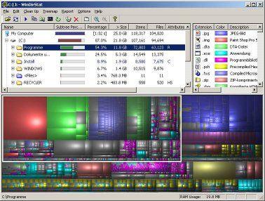 Screenshot of WinDirStat