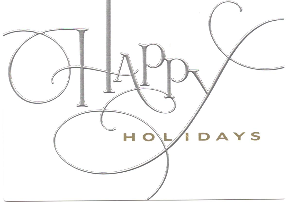 Happy Holidays and Best Wishes for a Wonderful 2015