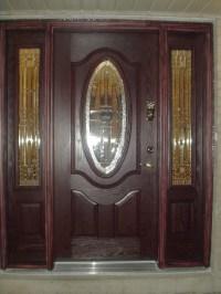 Fiberglass Door with 2 sidelights