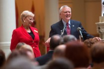 Gov. Nathan Deal and his wife Sandra spoke about the value the arts and humanities sectors in the state during the ceremony for the Governor's Awards for the Arts and Humanities recipients.