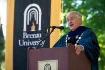Brenau University President Ed Schrader addresses the graduating Women's College Class of 2015