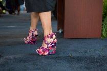 Flowery shoes