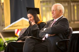 Amanda Slavin, founder and CEO of CatalystCreativ, addressed the 2015 graduates of the Brenau Women's College.
