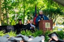 Brenau University President Ed Schrader addresses the graduating students during the 2015 Undergraduate and Graduate Commencement.