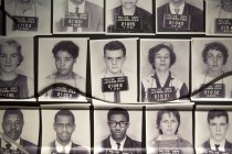 Mug shots from the interactive Freedom Rider exhibit at the Center for Human and Civil Rights in Atlanta.