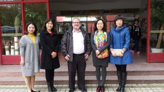 The teachers at the Anhui Normal University Affiliated Kindergarten were very friendly and welcoming. Miss Zhou (far right), a faculty member at the Anhui Normal University College of Educational Sciences, arranged several school visits for me while I was in Wuhu.