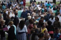 Family and friends wait to meet their graduates after The Women's College commencement on Friday, May 6, 2016, in Gainesville, Ga. (AJ Reynolds/Brenau University)