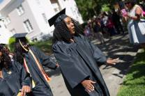 Shainie Cox, WC '16, takes part in the processional during The Women's College commencement on Friday, May 6, 2016, in Gainesville, Ga. (AJ Reynolds/Brenau University)