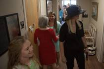 Attendees tour the newly dedicated Alpha Delta Pi sorority house. (AJ Reynolds/Brenau University)